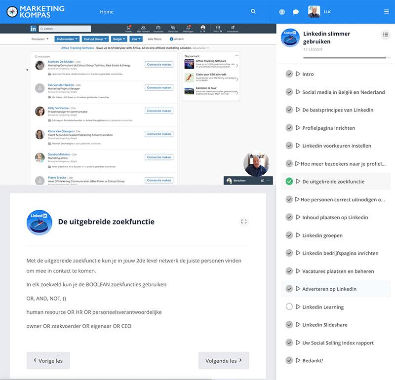 Schermafbeelding Linkedin training