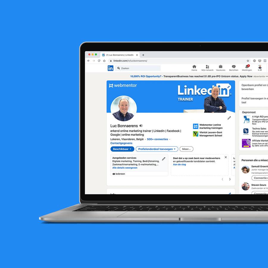 Laptop Linkedin training